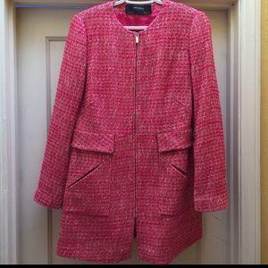 Topper Blazer Tweed Jacket Zara Basic
